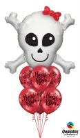 Happy Skull Hugs And Kisses Balloon Bouquet