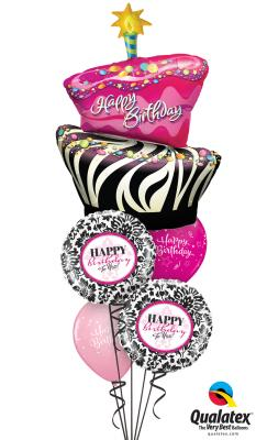 Happy Birthday Cake Balloon Bouquet